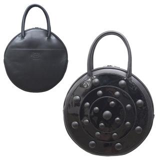 TOKYO BOPPER No.11182A/ Real leather Round handbag Galaxy  / Black