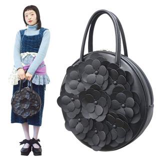 TOKYO BOPPER No.11181A/ Real leather Round handbag Flower / Black