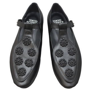 TOKYO BOPPER No.502 / Black/Black Bijou shoes