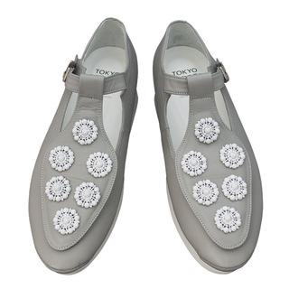 TOKYO BOPPER No.502 / Black/Whit Bijou shoes