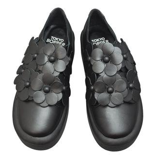 TOKYO BOPPER No.878 /  Black S flower shoes