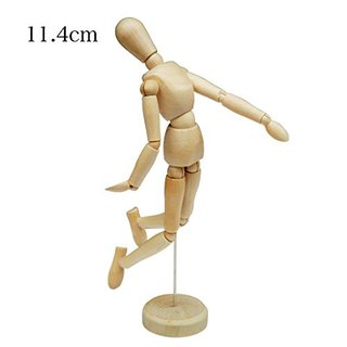 h effect (eichefect) wooden Interior dolls model drawing doll