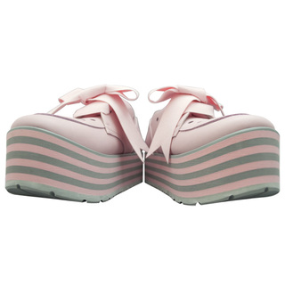TOKYO BOPPER No.332 / Pink-smooth leather - ribbon shoes