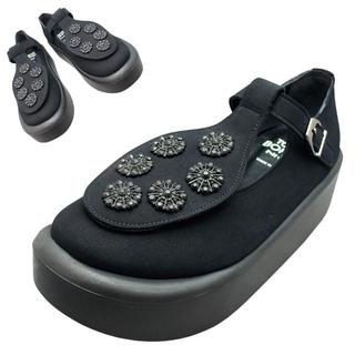 TOKYO BOPPER No.879 / Black & Black bijou shoes