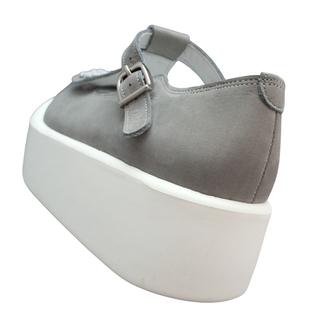 TOKYO BOPPER No.879 / White & Gray bijou shoes