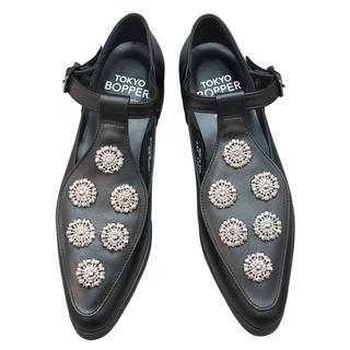 TOKYO BOPPER No.954 / Black & Silver bijou shoes