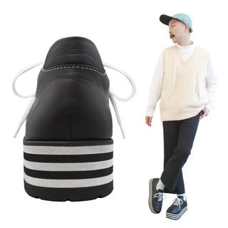TOKYO BOPPER No.3301 /Black leather sneaker border sole