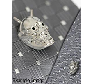 Titanium Hannya Tie Pin  (Moss)