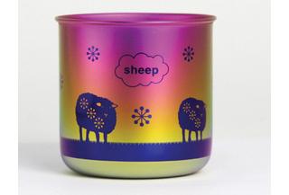 Titanium Mug Cup - Sheep  (Dawn)
