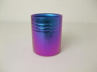 Double-Walled Titanium Mug Cup - Medium  (Violet Blue)