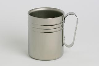 Double-Walled Titanium Mug Cup - Medium with Handle  (Platinum)