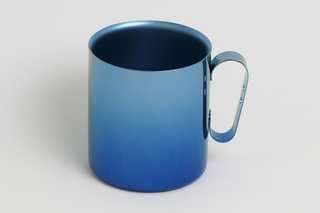 Double-Walled Titanium Mug Cup - Large with Handle  (Gradation Blue)