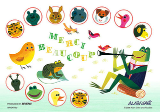 Alain Gree - Merci Beaucoup 300 Micro Piece Jigsaw Puzzle