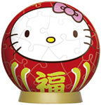 3D Lucky Kitty Daruma 60P