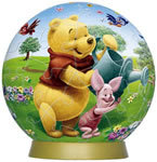 Pooh in Flower Bed 60P 3D Puzzle
