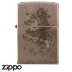 Zippo - Samurai Warrior on Horseback - Brown 3