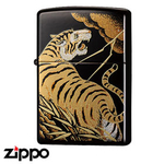 Zippo - Japanese Designs - Gold Stormcloud Tiger