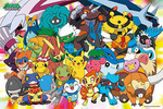 Pokemon Diamond and Pearl  - Group Shot Jigsaw Puzzle