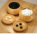 Superior  Masame Grain Japanese Honshu Kaya Go Bowl - Extra Large