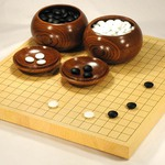 Size 10 Japanese Honshu Kaya Table Go Board Set