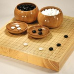 Size 20 Japanese Hyuga Kaya Table Go Board Set Excellent