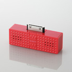 ELECOM - SOUNDBLOCK Speakers - Red (ASP-P300RD)