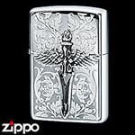 Sterling Silver Zippo - Arabesque Sword