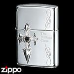 Sterling Silver Zippo - Brilliant Cross  (I)