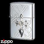 Sterling Silver Zippo - Brilliant Cross  (II)