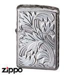Sterling Silver Zippo - Foliage