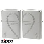 Pair Zippo - Linked Heart
