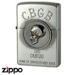 Skull Zippo - CBGB & OMFUG  (Skull)