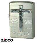 Skull Zippo - CBGB & OMFUG  (Cross)