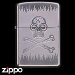 Skull Zippo - Etched Poison  (Skull)