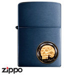 Skull Zippo - The Dead Don't Speak  (Black)