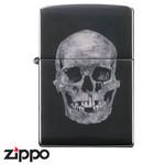 Skull Zippo - Titanium Skull  (Black)
