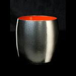 Titanium Japanese Lacquer Cup by Rhus  (Vermillion Soul)