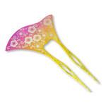 Titanium Hair Stick  (Plum)