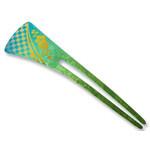Titanium Hair Stick  (Green)