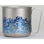 Titanium Mug Cup - Garden  (Blue)