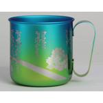 Titanium Mug Cup - Peony  (Yellow Green)