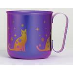 Titanium Mug Cup - Cat  (Violet)