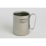 Double-Walled Titanium Mug Cup - Medium with Handle  (Platinum)