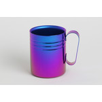 Double-Walled Titanium Mug Cup - Medium with Handle  (Violet Blue)