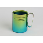 Double-Walled Titanium Mug Cup - Medium with Handle  (Gradation Green)