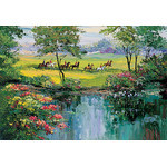 Mark King - Meadow Crossing 1000 Piece Jigsaw Puzzle