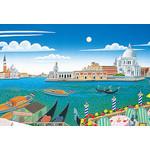 Thomas McKnight - Venetian Lagoon 1000 Micro Piece Jigsaw Puzzle