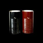 Titanium Japanese Lacquer Tumbler by Rhus  (Strokes-Red)