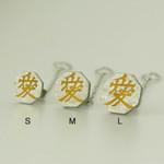 Titanium Tie Pin - Samurai Insignias Silver (L)