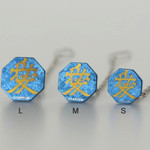 Titanium Tie Pin - Samurai Insignias Blue (M)